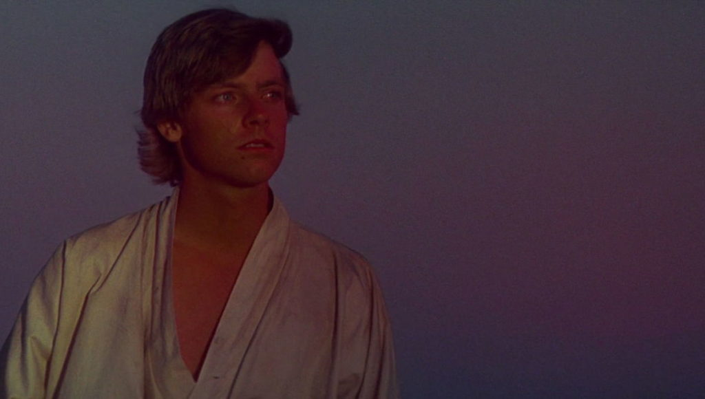 Luke Skywalker binary sunset